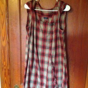 Kuhl brand plaid jumper dress size XL